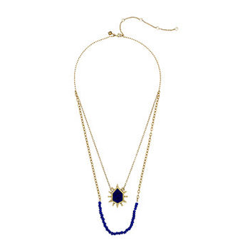 Rebecca Minkoff Burst Double Row Necklace Gold/Blue Multi - Zappos.com Free Shipping BOTH Ways
