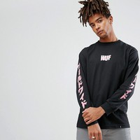 HUF Asa Long Sleeve T-Shirt With Sleeve Print at asos.com