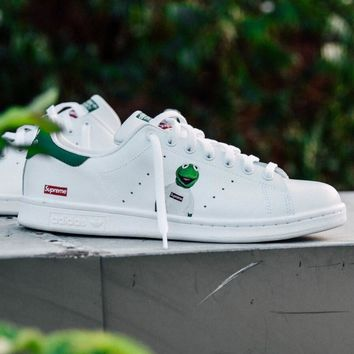ADIDASAMAC Customs Supreme Stan Smith Trending Fashion Print Casual Sports Shoes G-MDTY-SHINING