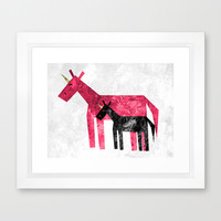 Thank's Mom Framed Art Print by That's So Unicorny