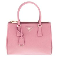 Prada Stylish Women Double-Zipper Handbag Pale Rose Pink I-3A-XNRSSNB