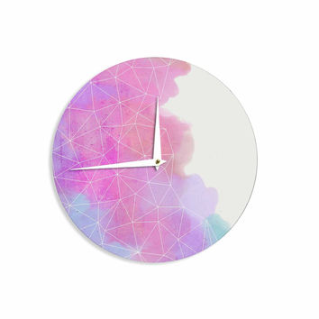 "Cafelab ""Spring Shadows"" Purple Pastel Wall Clock"