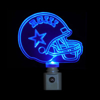 Football Night Light, Dallas Cowboys or your favorite team Logo, Personalize/custom with a Name