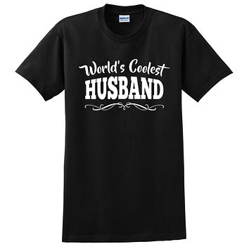 World's coolest husband birthday anniversary gift ideas for him wedding gift couple just married T Shirt