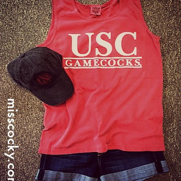 Comfort Colors University of South Carolina Garnet Tank