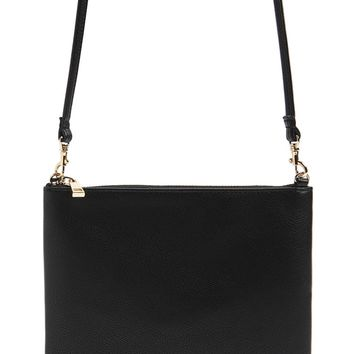 Textured Faux Leather Crossbody Bag