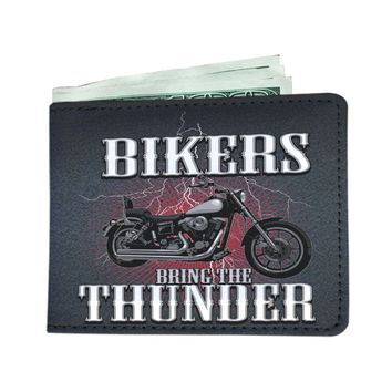 Bikers Bring The Thunder Men's Wallet