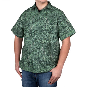 Green Fields - Button Down Mens Shirt