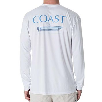 Fishing Boat Performance Shirt in White by Coast