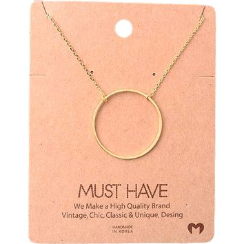 Must Have-large Circle Necklace, Gold