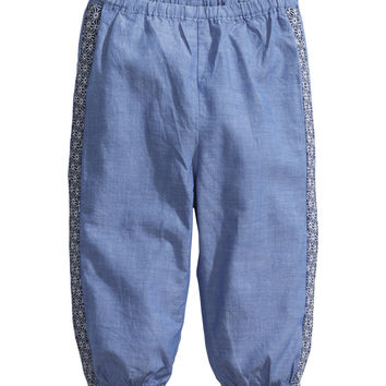 H&M - Cotton Pants - Blue - Kids