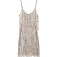 Kate Moss Topshop Gold Beaded Fringe Dress - Beaded Dress - ShopBAZAAR