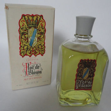 Vintage: Myrurgia Flor de Blason, 110ml, 3,5 fl.oz Cologne, Full Bottle with Box