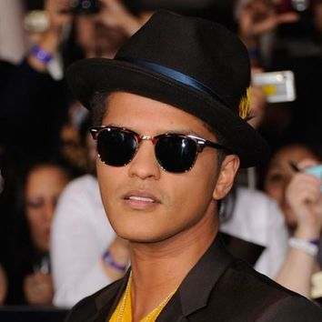 Celebrity Mens Bruno Mars Half Frame Horned Rim Sunglasses 2934