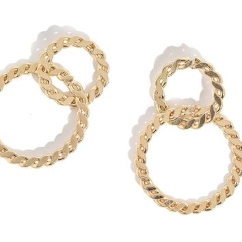 Sara Chain Linked Hoops