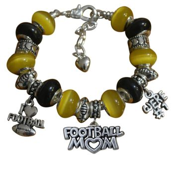 Football Mom Beaded Bracelet