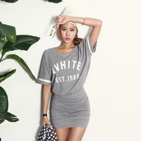 Shirred Relaxed Fit Dress | DABAGIRL, Your Style Maker