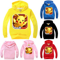 Kid Girls Boys Toddler Pokemon Hooded Top T-shirt Jacket Sweatshirt Hoodies Coat