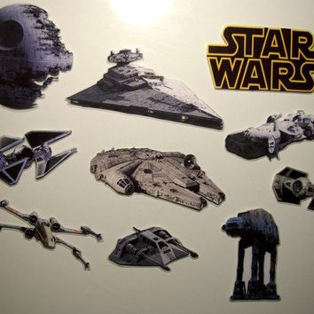 STAR WARS vehicles magnet set