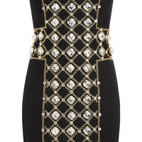 Jewel Embellished Strapless Dress - Balmain | WOMEN | KR STYLEBOP.COM
