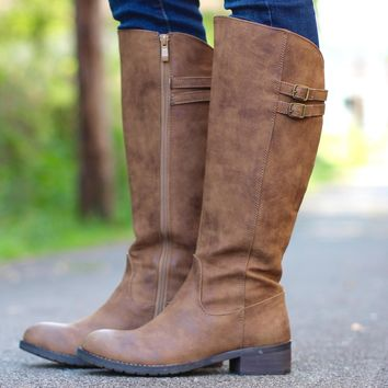 Very Volatile: Mira Riding Boot {Tan}