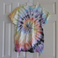Swirl Pattern Unisex Customizable Tie Dye Tee Shirt