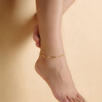 Jewelry Ladies New Arrival Cute Sexy Gift Accessory Simple Design Stylish Beach Metal Shiny Simple Anklet [8080500103]