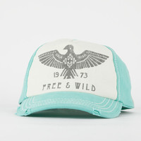 Billabong Runner Up Womens Snapback Hat Turquoise One Size For Women 19381524101
