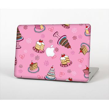 """The Pink with Yummy Cakes Skin Set for the Apple MacBook Pro 13"""""""