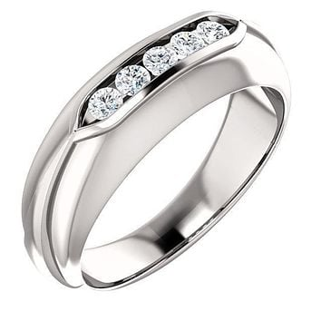 Matthew Round Diamond 5 Stone Channel-Set Ring