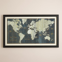 Blue Old World Map - World Market