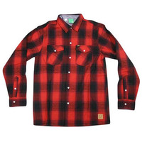 Enjoi: Your Friends Shirt Button Down Long Sleeve - Red