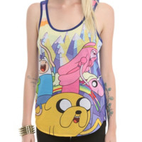 Adventure Time Mountain Jump Girls Tank Top