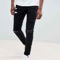 Ringspun Super Skinny Jeans With Ultra Rips at asos.com