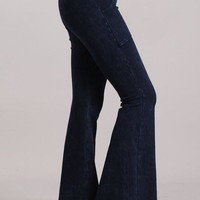 Chatoyant Mineral Washed  French Terry Pocket Pants Electric Blue