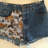 Cat Shorts by VintageAndUrbanSouls on Etsy