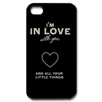 One Direction Quotes iPhone 4 4s Case Hard Plastic iPhone 4 4s Case
