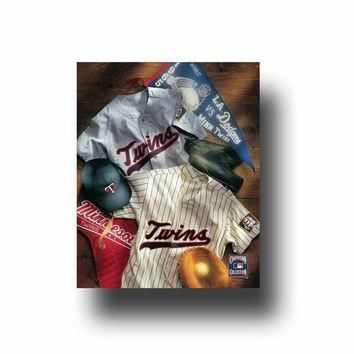 MLB Minnesota Twins Vintage Jersey Collage Canvas Wall Art
