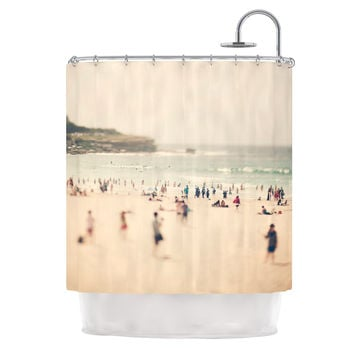 "Catherine McDonald ""Bondi Beach"" Coastal People Shower Curtain"