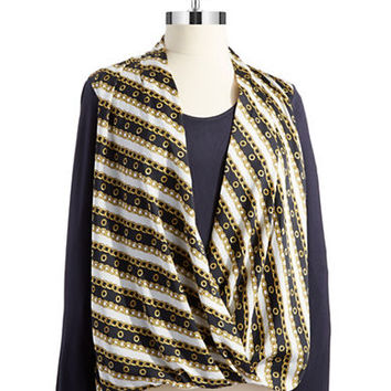 Michael Michael Kors Bridle Print Wrap Top