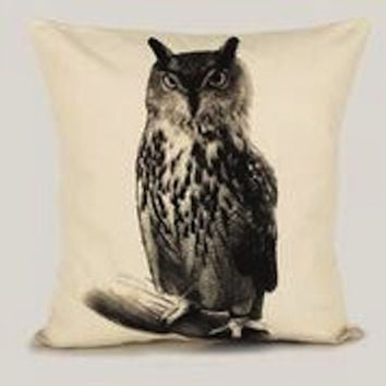 Owl Pillow Medium Size