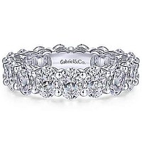 Gabriel Oval Cut Diamond Eternity Band