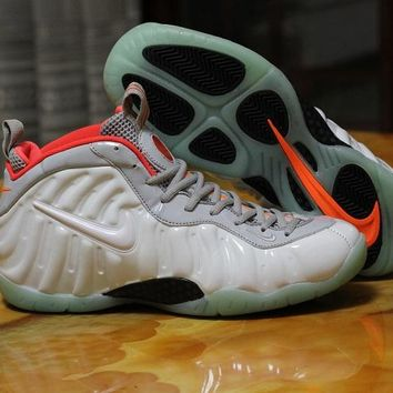 Nike Air Foamposite One White/Orange Sneaker Size US8-13