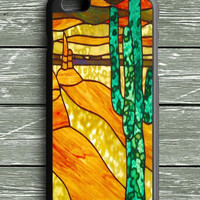 Cactus Stained Glass iPhone 6 Plus Case