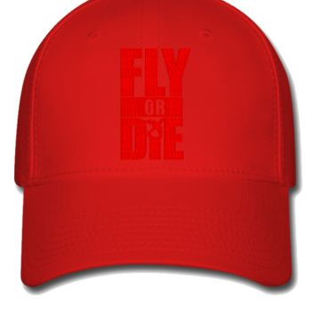 fly or die embroidery hat - Flexfit Baseball Cap
