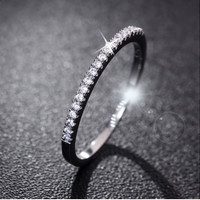 Wedding Rings Women 925 Sterling Silver Simulated Diamond Ring Jewelry Anillos
