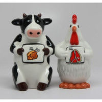 Eat Chicken Eat Beef - Salt and Pepper Shakers