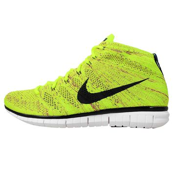 hot sale online 14a09 22746 NIKE FREE FLYKNIT CHUKKA YEL BLK WHT 639700-700