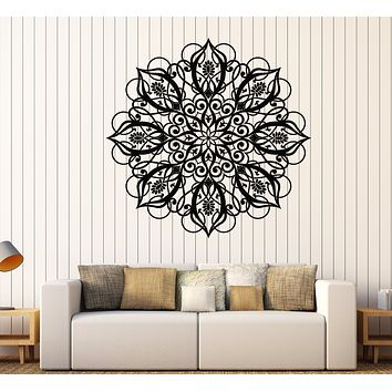 Large Vinyl Decal Wall Sticker Patera Circle Ornament Pattern Beautiful Mandala (n633)