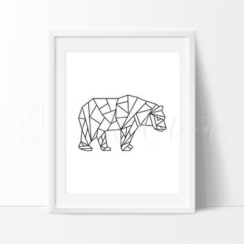 Poly Geometric Bear